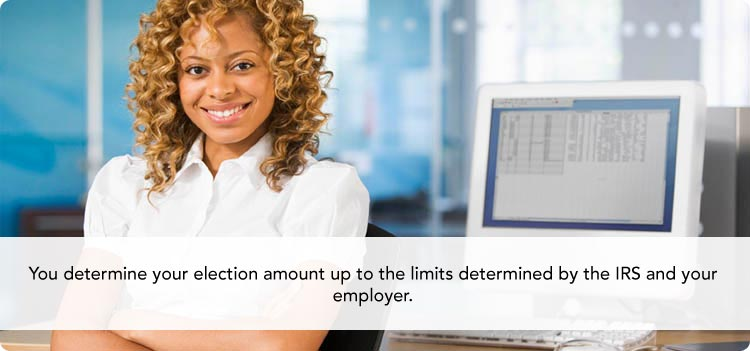 You determine your election amount up to the limits determined by the IRS and your employer.
