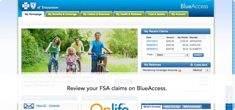 Review your FSA claims on BlueAccess.
