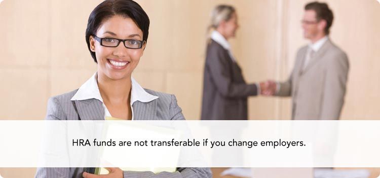 HRA funds are not transferable if you change employers.
